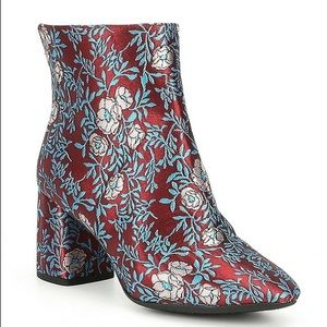 Gianni Bini Catalano Brocade Floral Heel Booties